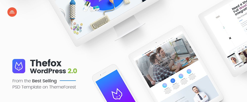 TheFox Responsive Multi-Purpose WordPress Theme