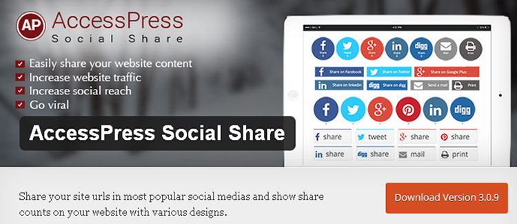 AccessPress Social Share wordpress plugin