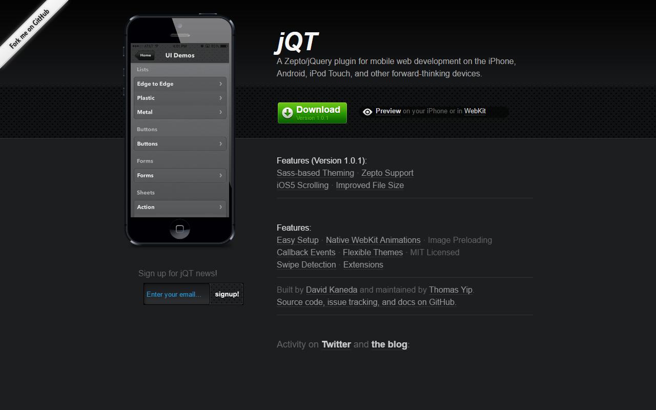 jQT Framework