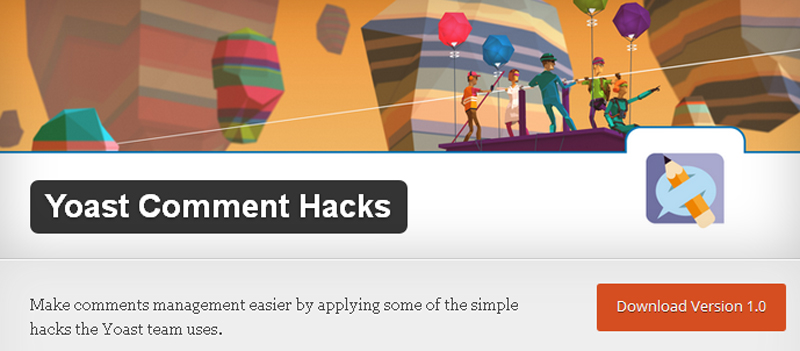Yoast Comment Hacks wordpress plugin